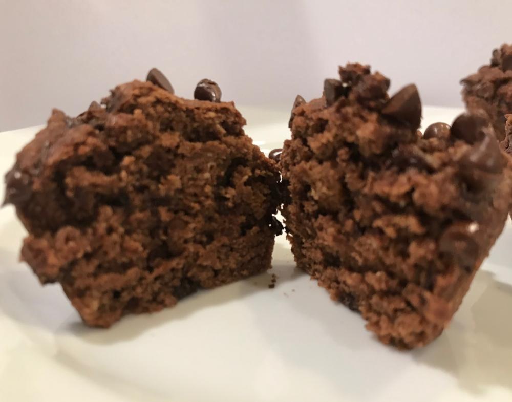 chcocolate ricotta muffins