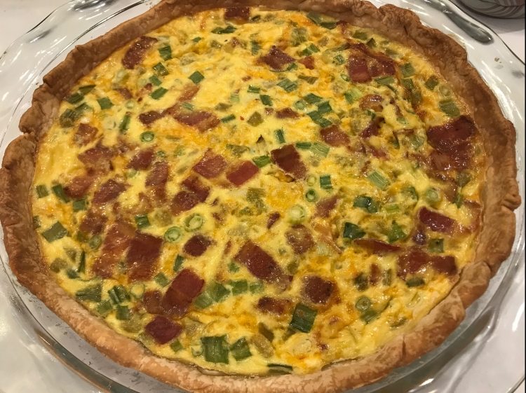 green chili bacon quiche